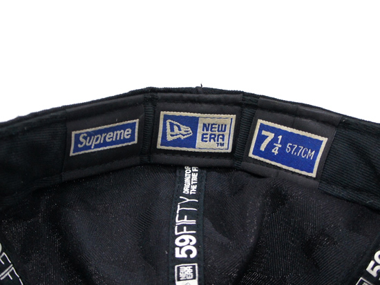 Supreme - Bone LA Logo New Era Black S USED 状態D - UG.SHAFT a4d3ff8c63e