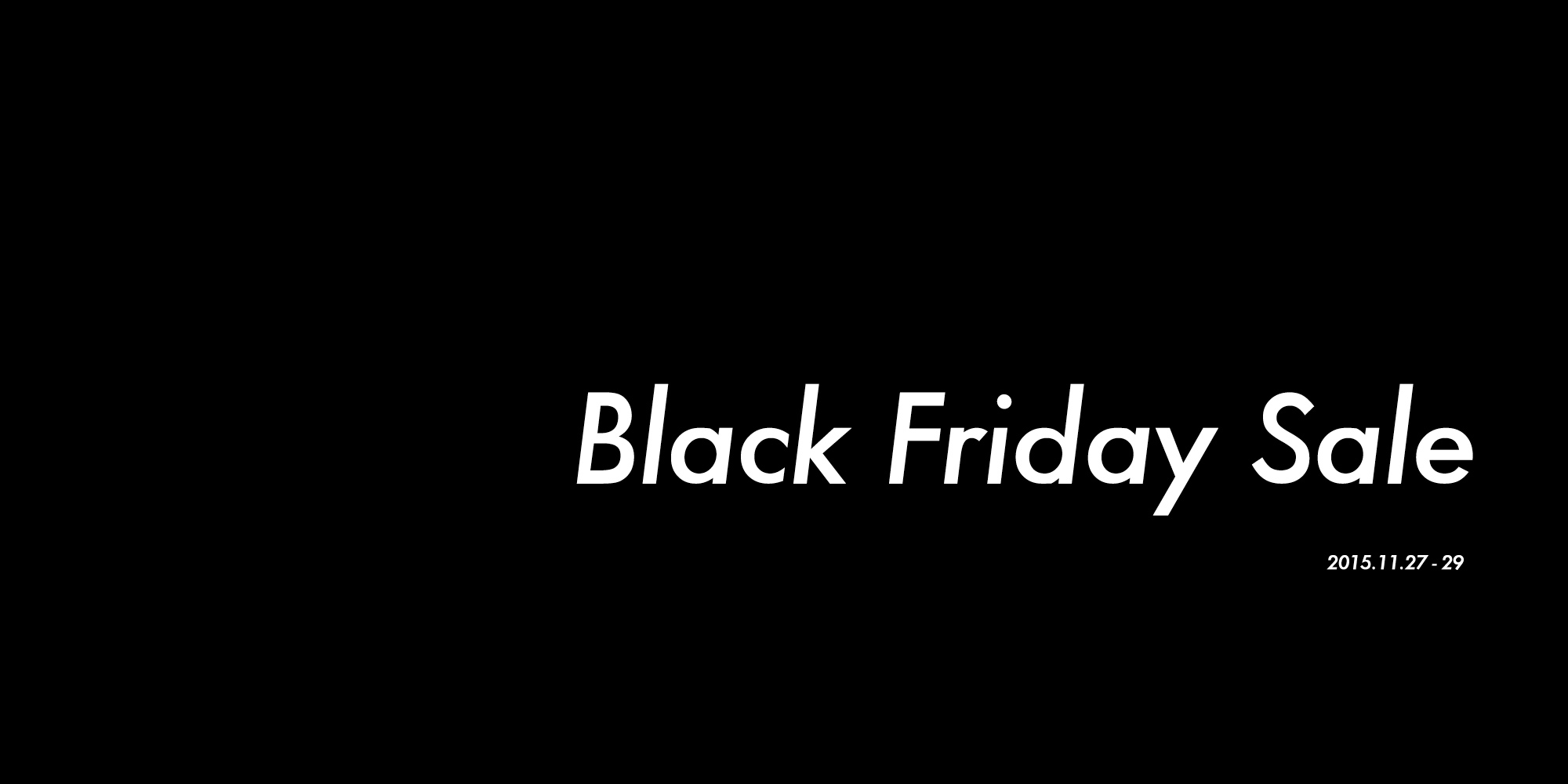 black friday tid